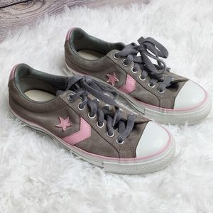 Converse Star Player Gray And Pink Sneaker